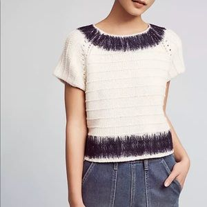 Anthropologie Field Flowers sz S Feltwork Sweater